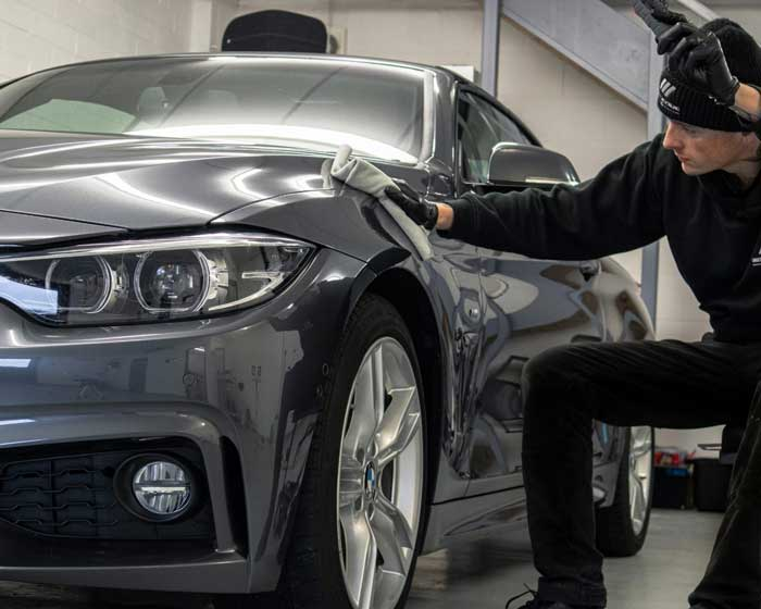 photo of BMW car being detailed in Oxfordshire