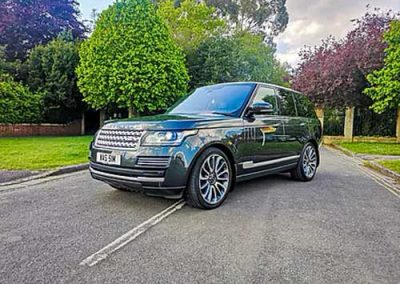 Photograph of detailed Range Rover